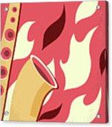 No657 My St Elmos Fire Minimal Movie Poster Acrylic Print
