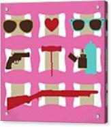 No736 My True Romance Minimal Movie Poster Acrylic Print