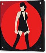 No742 My Cabaret Minimal Movie Poster Acrylic Print