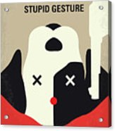 No893 My A Futile And Stupid Gesture Minimal Movie Poster Acrylic Print