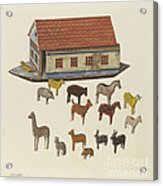 Noah's Ark And Animals Acrylic Print