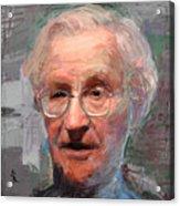 Noam Chomsky Portrait 1059 Acrylic Print