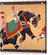 Nobleman Riding Elephant Acrylic Print