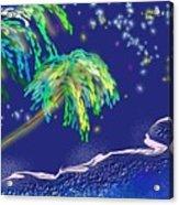 Noche Tropical Acrylic Print