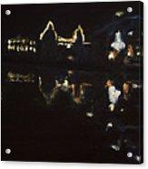 Nocni Vyhled S Labutemi Acrylic Print