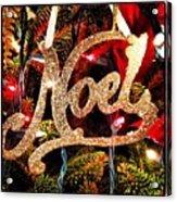 Noel Ornament Acrylic Print