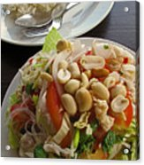 Noodles With Crab Meat And Peanuts Acrylic Print