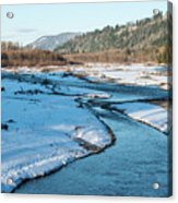 Nooksack River On A December Afternoon Acrylic Print