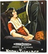 Norma Talmadge In The Probation Wife 1919 Acrylic Print