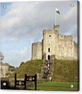 Norman Keep At Cardiff Castle Acrylic Print