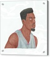 Norris Cole Acrylic Print by Toni Jaso