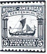 Norse-american Centennial Stamp Acrylic Print