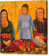 North American Native Family  Acrylic Print