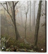 North Carolina Foggy Mountain  Acrylic Print
