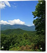 North Carolina Mountains In The Summer Acrylic Print