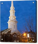 North Church At Twilight, Portsmouth, New Hampshire Acrylic Print