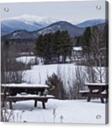 North Conway Winter Mountains Acrylic Print