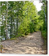 North Country Trail In Pictured Rocks National Lakeshore-michigan  Acrylic Print