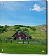 North Dakota Barn Acrylic Print