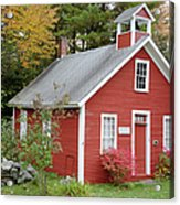 North District School House - Dorchester New Hampshire Acrylic Print