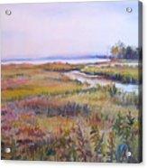 North Fork Marsh Acrylic Print
