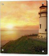 North Head Lighthouse At Sunset Acrylic Print