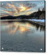 North Lake Tahoe Spring Sunset Acrylic Print