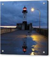North Pier Reflections Acrylic Print