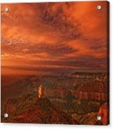 North Rim Storm Clouds Grand Canyon National Park Arizona Acrylic Print