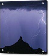 North Scottsdale Arizona Pinnacle Peak Monsoon Acrylic Print