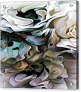 North Shore Abstract Wild Flowers Acrylic Print