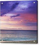 North Shore Beach Sunset Acrylic Print
