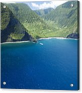 North Shore Cliff Coast Line Acrylic Print