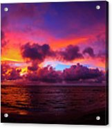 North Shore Sunset  Acrylic Print