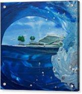 North Shore Window Barrel  Right Acrylic Print