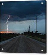 North Talbot Road Lightning Acrylic Print