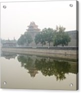 North Wall Of The Forbidden City Beijing China Acrylic Print