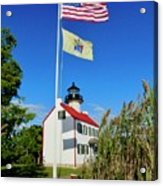 North Wind At East Point Light Acrylic Print
