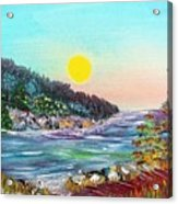 North With Yellow Sun Acrylic Print