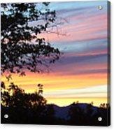 Northern Ca June Sunset  Acrylic Print
