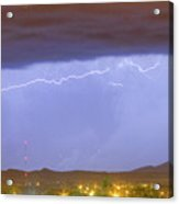 Northern Colorado Rocky Mountain Front Range Lightning Storm  Acrylic Print by James BO  Insogna