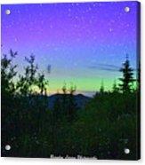Northern Lights At Mount Pilchuck Acrylic Print