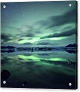 Northern Lights Over Jokulsarlon Acrylic Print by Matteo Colombo