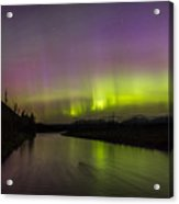 Northern Lights Over The North Fork Of The Flathead River Acrylic Print
