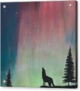 Northern Lights Stardust Acrylic Print by Jackie Novak