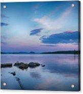 Northern Maine Sunset Over Lake Acrylic Print