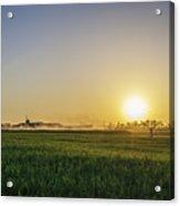 Northern Maryland Farm Sunrise Acrylic Print