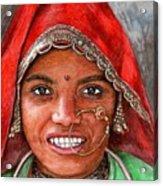 Northindian Woman Acrylic Print