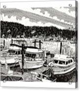 Gig Harbor Yacht Moorage Acrylic Print