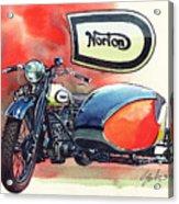 Norton Side Car Acrylic Print